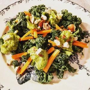 Salade de chou kale - Copyright © Gratinez