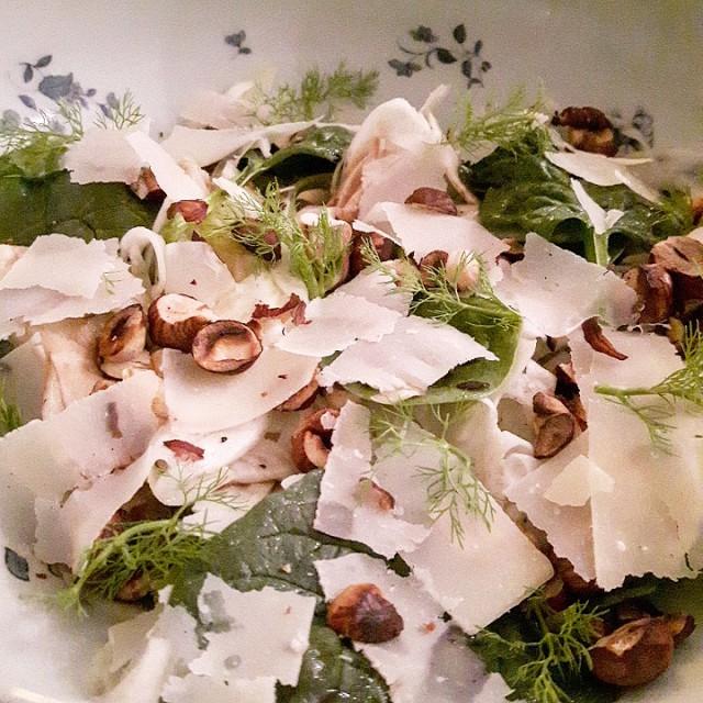Salade fenouil, poire et épinard - Copyright © Gratinez