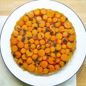 Tarte tatin de carottes - Copyright © Gratinez