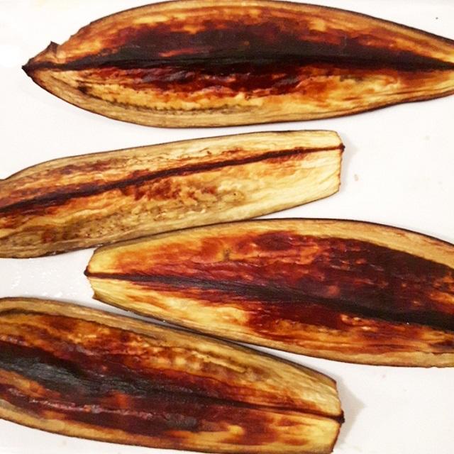 Aubergines grillées au four – Copyright © Gratinez