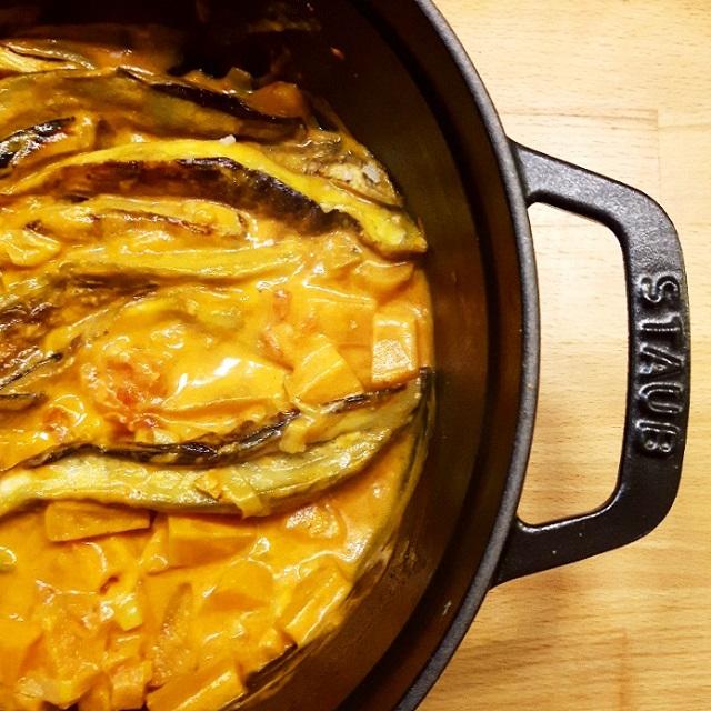 Curry de patate douce et aubergine – Copyright © Gratinez