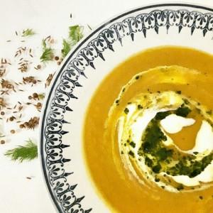 Soupe de carotte et fenouil rôtis aux épices douces – Copyright © Gratinez