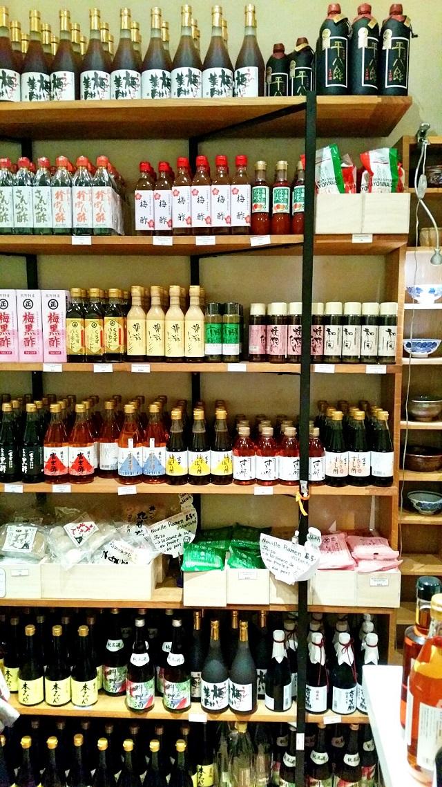 L'épicerie fine, côté sauces et vinaigres @ Workshop Issé – Copyright © Gratinez