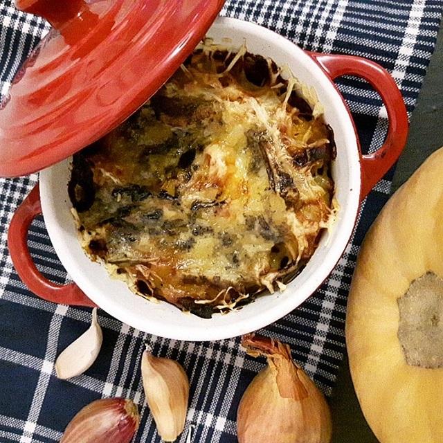 Butternut et pommes de terre gratinés à la fourme d'Ambert – Copyright © Gratinez