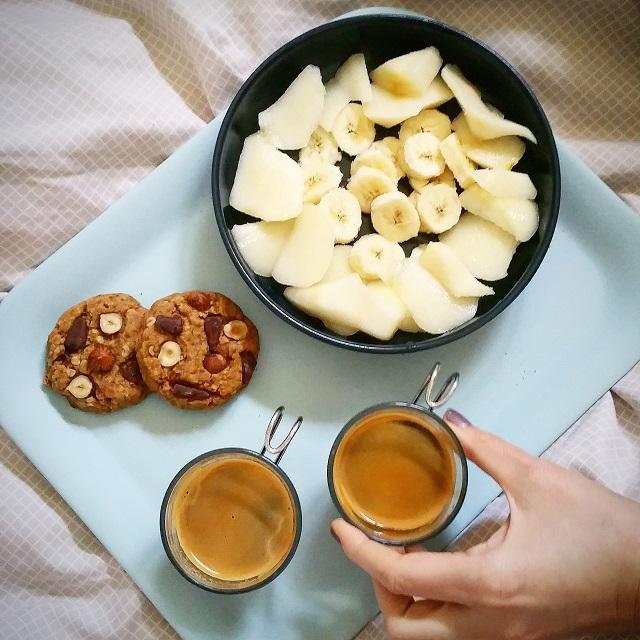 Cookies végans au beurre de cacahuètes, parfait au petit déjeuner – Copyright © Gratinez