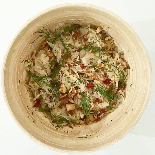 Salade de chou blanc et chou-rave à l'aneth – Copyright © Gratinez