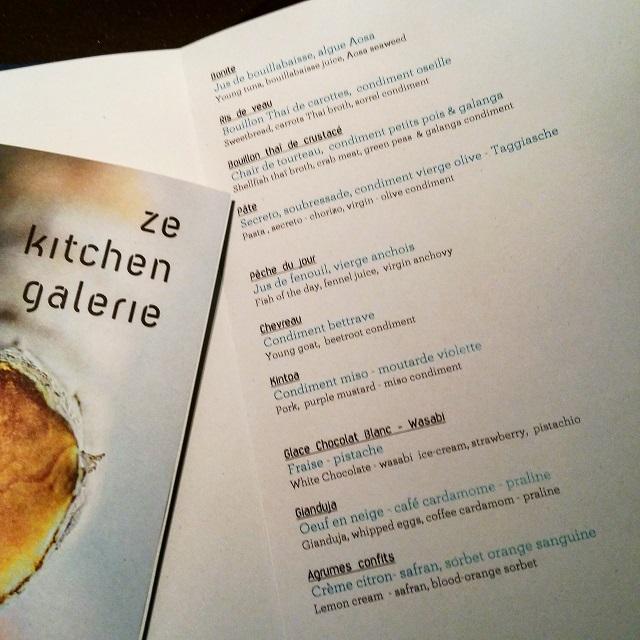 [Ze Kitchen Galerie] Menu du jour de Ze Kitchen Galerie – Copyright © Gratinez