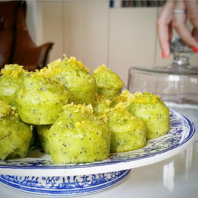 Muffins matcha, citron et pavot, moelleux et légers – Copyright © Gratinez