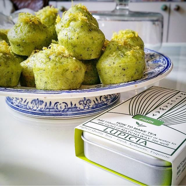 Muffins citron, pavot et Matchaway de la Maison Lupcia – Copyright © Gratinez