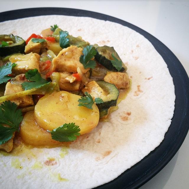 Curry de poulet, QuiToque cuisiné par Gratinez – Copyright © Gratinez