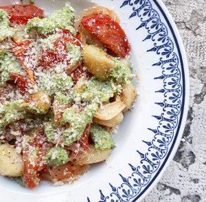 Gnocchis aux tomates rôties et pesto, QuiToque cuisiné par Gratinez – Copyright © Gratinez