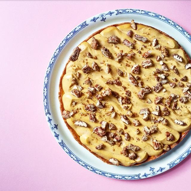 Pumpkin pie, tarte sucrée butternut et noix de pécan – Copyright © Gratinez