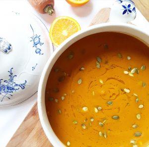 Soupe carotte, orange et curry – Copyright © Gratinez