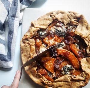 Tarte rustique au butternut et gorgonzola – Copyright © Gratinez