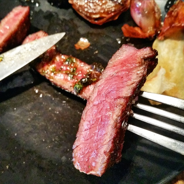 Entrecôte de bœuf Churrasco d'Argentine, chez Biondi – Copyright © Gratinez