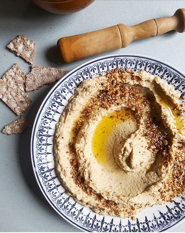 Houmous artichaut et mélange Dukkah – Copyright © Gratinez