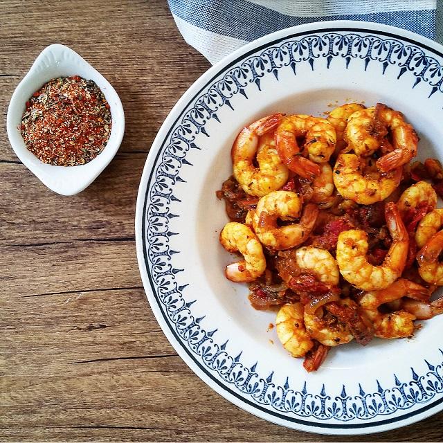 Nomie, le goût des épices - Les Incandescentes, Crevettes sautées aux épices Cajun