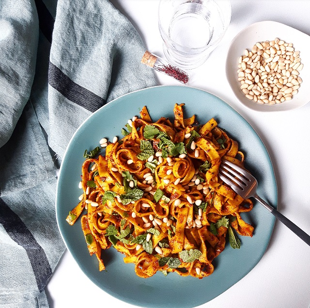 Nomie, le goût des épices - Les Suaves, Tagliatelles beurre safrané