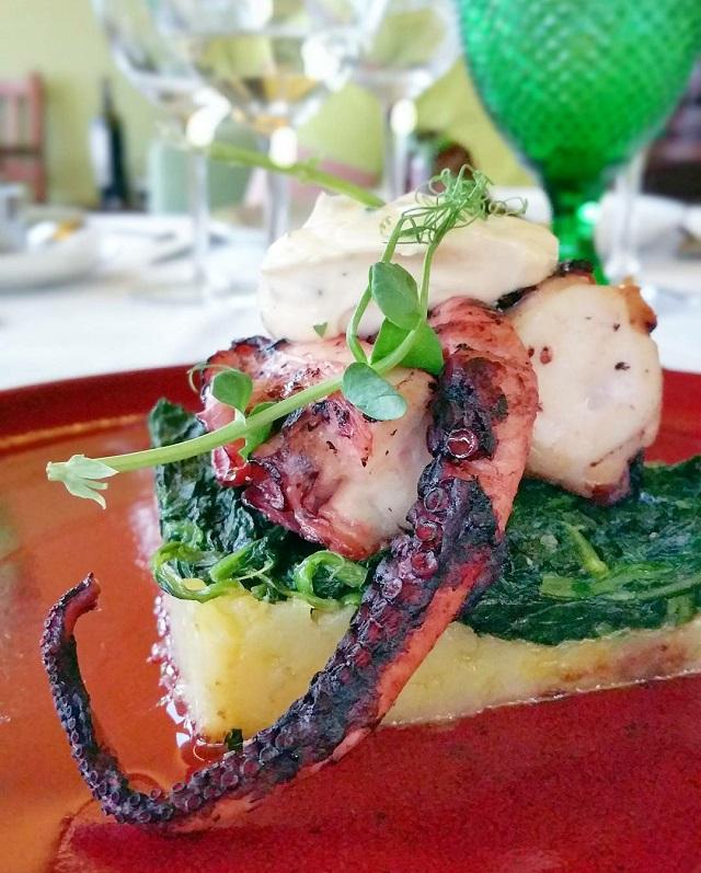 Poulpe, Restaurant gastronomique de la Quinta da Pacheca – Copyright © Gratinez
