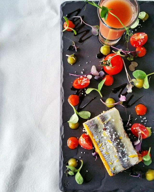 Tomates et sardines, Restaurant gastronomique de la Quinta da Pacheca – Copyright © Gratinez
