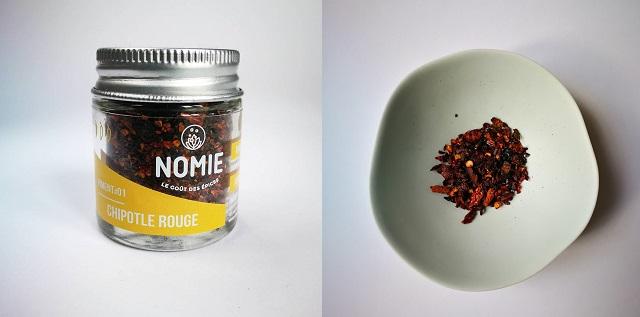 Piment fumé Chipotle, par Nomie, le goût des épices – Copyright © Gratinez