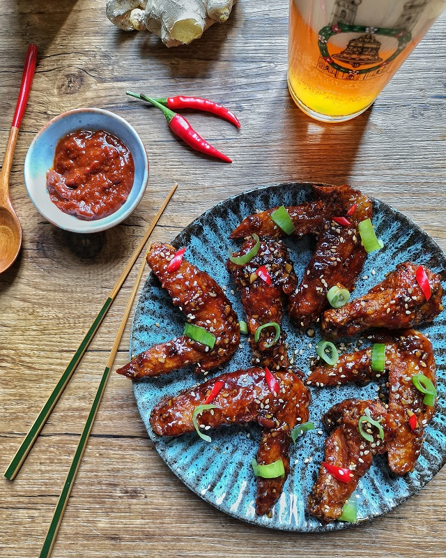 Korean Fried Chicken, ou Dakgangjeong – Copyright © Gratinez