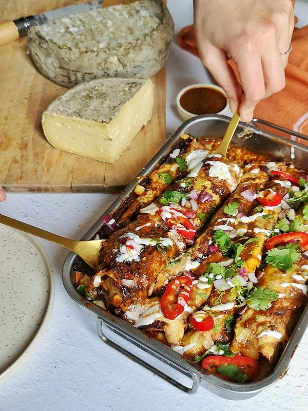 Enchiladas veggie à la Tomme de Savoie IGP
